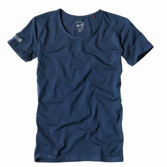 Pánske tmavomodré tričko s krátkym rukávom Pure Basic MUSTANG