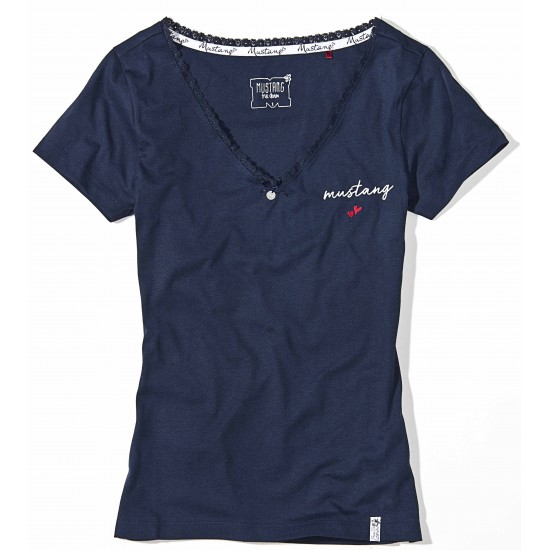 Dámske modré tmavomodré tričko Rebecca MUSTANG