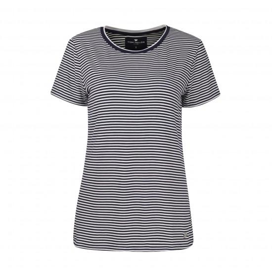 Pruhované dámske tričko TOM TAILOR s krátkym rukávom TOM TAILOR