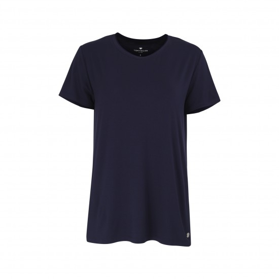 Dámske modré tričko TOM TAILOR s krátkym rukávom TOM TAILOR