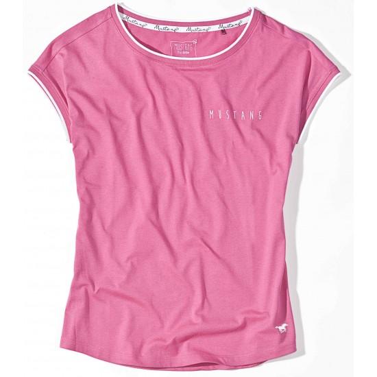 Dámske ružové tričko s krátkym rukávom Claire MUSTANG