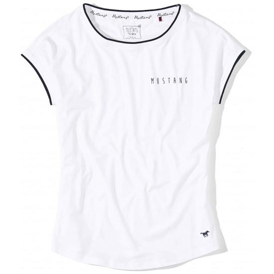 Dámske biele tričko s krátkym rukávom Claire MUSTANG