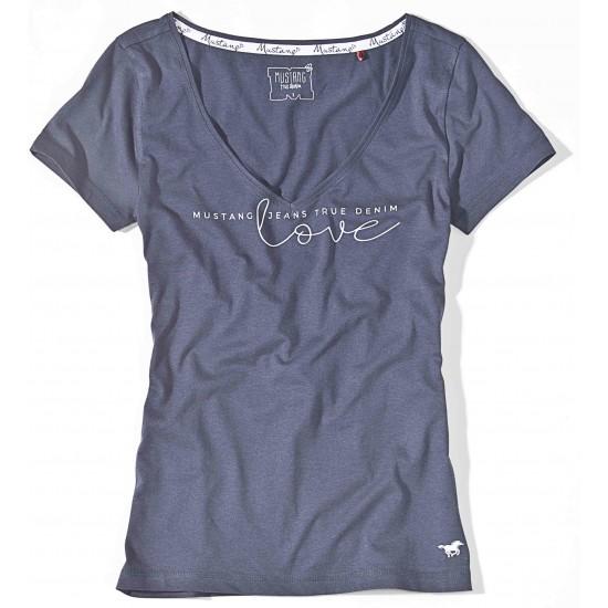 Dámske antracitové tričko s krátkym rukávom Caroline MUSTANG