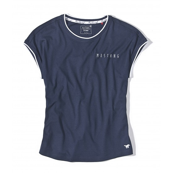 Dámske modré tričko s krátkym rukávom Claire MUSTANG