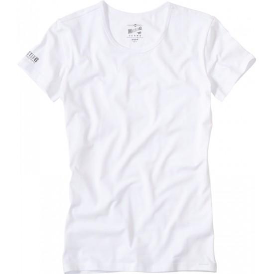 Pánske biele tričko s krátkym rukávom Mustang MUSTANG
