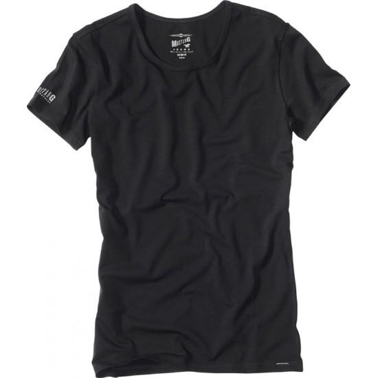 Pánske čierne tričko s krátkym rukávom Mustang MUSTANG