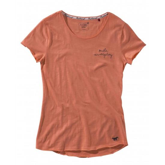 Dámske tričko broskyňové Campbell MUSTANG